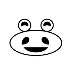 Hippo kawaii expression image vector