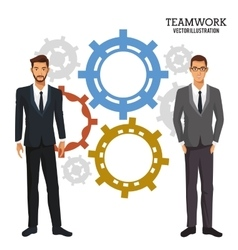 men gear teamwork corporate business vector image vector image