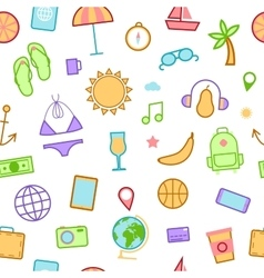 Summer Time Seamless Background vector image