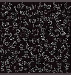 angel wings black seamless pattern vector image