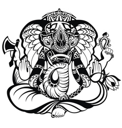 Ganesha elephant vector image vector image