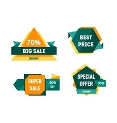 Geometric Sale Banners Set vector image