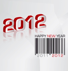 greeting card 2012 with barcode vector image vector image
