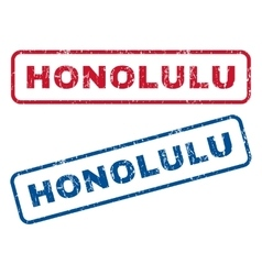 Honolulu Rubber Stamps vector image
