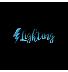 Lightning icon with lettering vector image vector image
