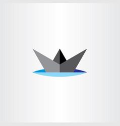 paper boat ship icon design vector image