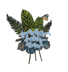 summer tropical bouquet vector image