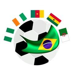 Africa Zone Qualification in A Brazil 2014 vector image