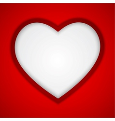 Background with heart-shape vector image vector image