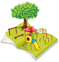 Book of playground in the park vector image vector image
