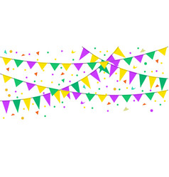 carnival flags mardi gras vector image