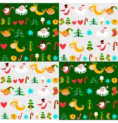 christmas background new years wallpapers vector image vector image