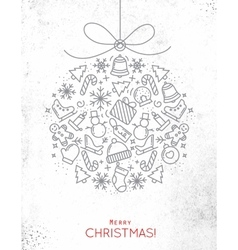 Christmas tree toy vector image vector image