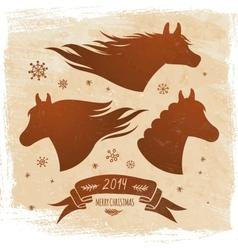 Horse symbol 2014 vector image vector image