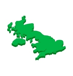 Map of united kingdom icon in isometric 3d style vector