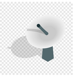 satellite dish antenna radar isometric icon vector image