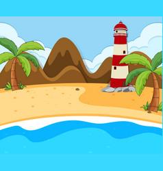 a beach summer scene vector image
