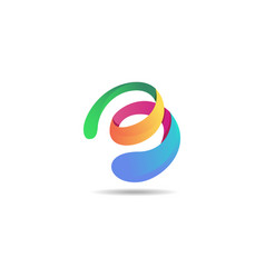 abstract colorful logo 3d modern icon concept vector image