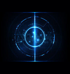 abstract digital technology futuristic hexagonal vector image