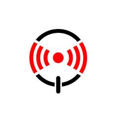 alarm button logo design icon symbol start alarm vector image