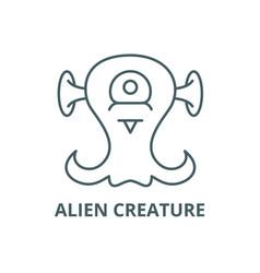 alien creature line icon alien creature vector image