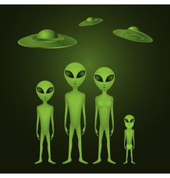 Alien family vector