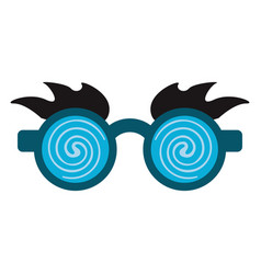 April fools day crazy glasse vector