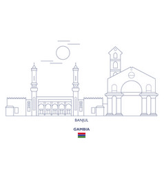 Banjul city skyline vector