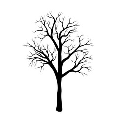 Bare tree winter design isolated on white vector