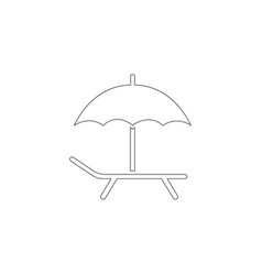 Beach chair flat icon vector