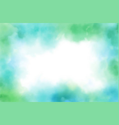 blue and green watercolor frame background eps10 vector image