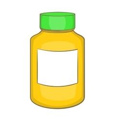 Bottle of pills icon cartoon style vector image