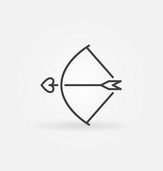 bow and cupid arrow concept linear icon or vector image