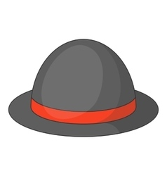 Bowler hat icon cartoon style vector image