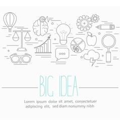 Business big idea symbols vector image