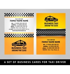 Business card - CAB vector image