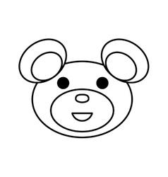 Cartoon bear icon Animal concept graphic vector