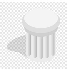 Classical column isometric icon vector