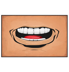 Comic books mouth anger and rage vector