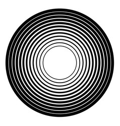 Concentric circles geometric element radial vector