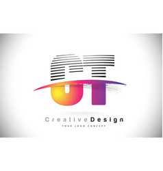 Ct c t letter logo design with creative lines and vector