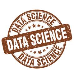 Data science brown grunge stamp vector