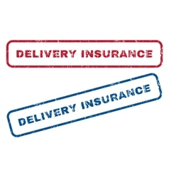 Delivery Insurance Rubber Stamps vector