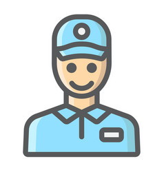 Delivery man filled outline icon delivery vector