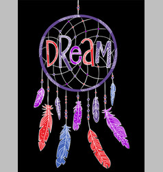 dream concept t-shirt print and embroidery vector image