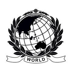 Earth globe in laurel crown vector