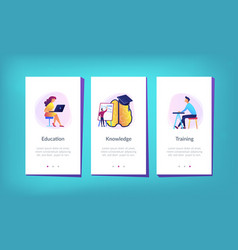 education and learning style app interface vector image
