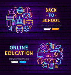 education website banners vector image