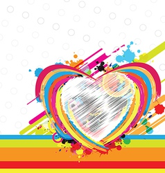 fantastic heart design background vector image