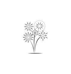 Firework company line logo design vector